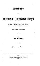 Geschichte des ungarischen Insurrectionskrieges in den Jahren 1848 und 1849: mit Karten und Plänen, Bände 3-4