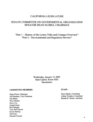 Informational Hearing on Proposed Tribal state Gaming Compact Between the Lytton Rancheria of California and the State of California PDF