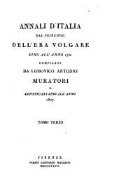 Annali d'Italia dal principio dell'era volgare sino all'anno 1750: Volume 3