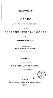 Reports of Cases Argued and Determined in the Supreme Judicial Court of the Commonwealth of Massachusetts: 1829-30, Volume 26