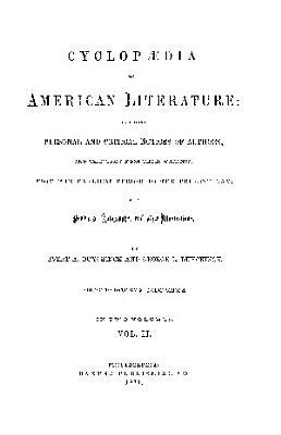 CYCLOPEDIA OF AMERICAN LITERATURE PDF