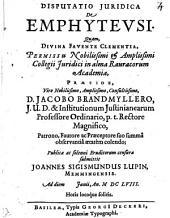 Disp. iur. de emphytheusi