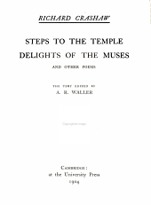 Steps to the Temple: Delights of the Muses, and Other Poems