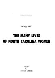 The Many Lives of North Carolina Women PDF