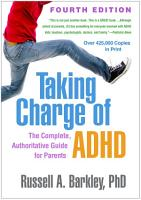 Taking Charge of ADHD  Fourth Edition PDF