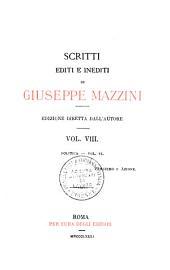 Scritti editi e inedité: Volume 8
