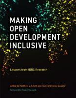 Making Open Development Inclusive PDF
