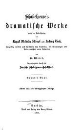 Dramatische werke nach der uebersetzung: Bände 9-10