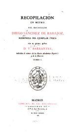 Recopilacion en metro del bachiller Diego Sanchez de Badajoz: Volumen 11