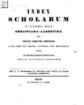 Index scholarum in Academia Regia Christiana Albertina: WS 1847/48