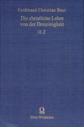 Bd. II.2, Baur, Dreieinigkeit