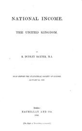 National Income: The United Kingdom