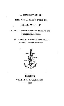 A Translation of the Anglo Saxon Poem of Beowulf PDF