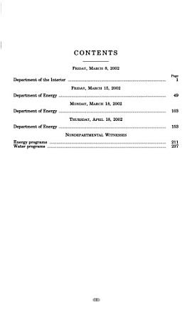 Energy and Water Development Appropriations for Fiscal Year 2003 PDF