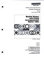 Marital Status and Living Arrangements
