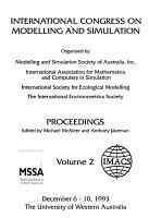 International Congress on Modelling and Simulation  December 6 10  1993  The University of Western Australia PDF