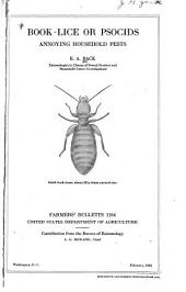 Book-lice Or Psocids: Annoying Household Pests