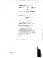 Annales Belgiques des sciences, des lettres et des arts: poésie. Etrennes offertes à Mm. les directeurs et confrères de la noble et antique confrérie des escrimeurs, ...