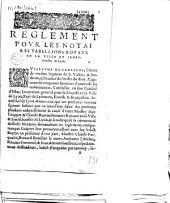 Reglement pour les notaires tabellions royaux en la ville et seneschaussee de Lyon... (Lyon, 25 février 1595)
