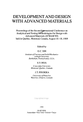 Development and Design with Advanced Materials
