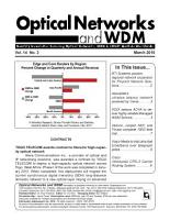 Optical Networks WDM Monthly Newsletter March 2010 PDF