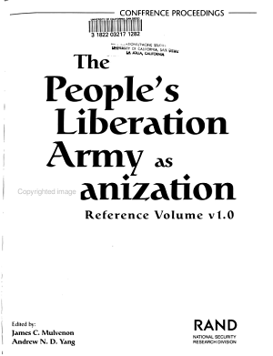 The People s Liberation Army as Organization PDF
