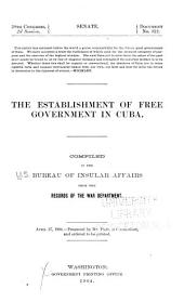 The Establishment of Free Government in Cuba