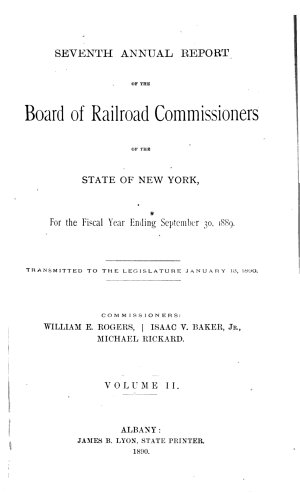 Annual Report of the Board of Railroad Commissioners of the State of New York for the Fiscal Year Ending
