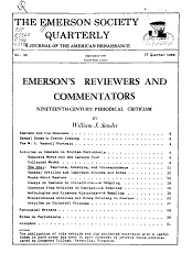 The Emerson Society Quarterly PDF