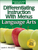 Differentiating Instruction with Menus  Grades K 2  Language Arts PDF