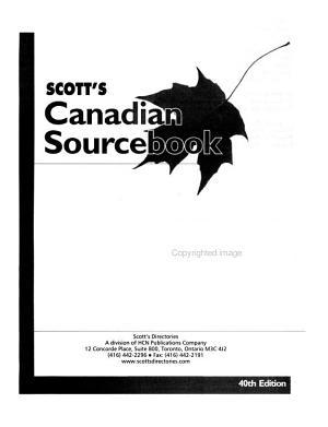 Scott s Canadian Sourcebook