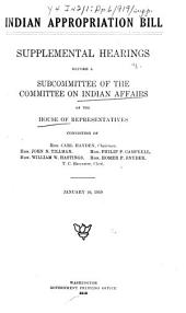 Indian Appropriation Bill: Supplemental Hearings Before a Subcommittee...
