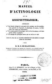 Manuel d'actinologie, ou de zoophytologie