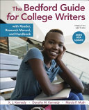 The Bedford Guide for College Writers with Reader  Research Manual  and Handbook  2020 APA Update