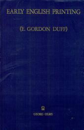 Early English Printing