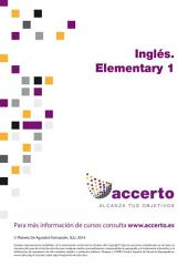 Inglés. Elementary 1
