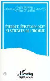 Ethique, épistémologie et sciences de l'homme