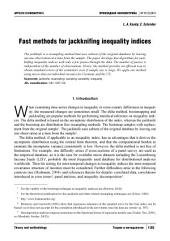 Fast methods for jackknifing inequality indices
