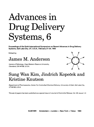 Advances in Drug Delivery Systems  6 PDF