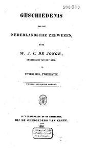 Geschiedenis van het Nederlandsche zeewezen: Dl. 2, Volume 2