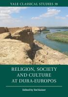 Religion  Society and Culture at Dura Europos PDF