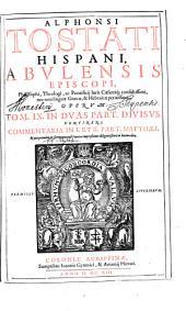 Opera omnia: Continens Commentaria In I. Et II. Part. Matthaei, Volume 9, Issue 1