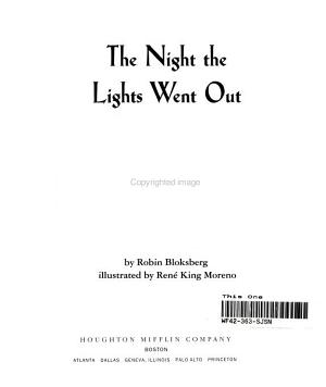 Night Lights Out Guided Reading Book Level 1