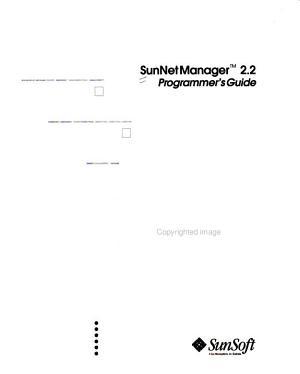 SunNet Manager 2 2 programmer s guide
