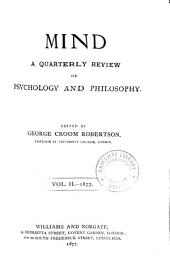 MIND a quarterly review of psychology and philosophy
