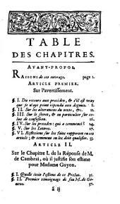 Remarques sur la réponse de l'arch. de Cambray à la relation sur le quietisme; Réponse de l'arch. de Cambray aux remarques de l'évêque de Meaux sur la réponse à la relation sur le quietisme