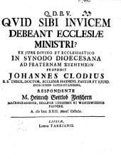 Quid sibi invicem debeant ecclesiae ministri?: ex iure divino et ecclesiastico