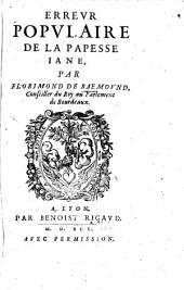 Erreur populaire de la papesse Jane