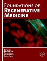 Foundations of Regenerative Medicine PDF
