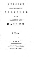 VERSUCH SCHWEIZERISCHER GEDICHTE VON ALBRECHT VON HALLER  PDF